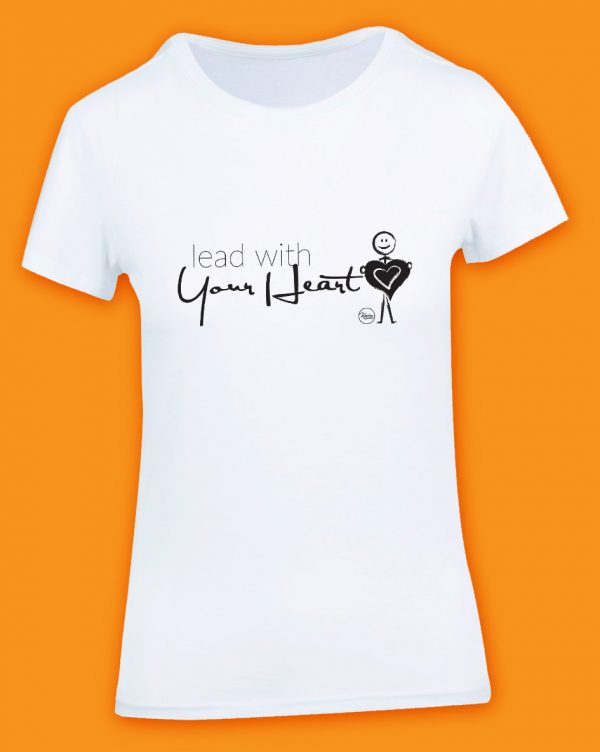 Wear Your Values Tshirt - lead with your heart
